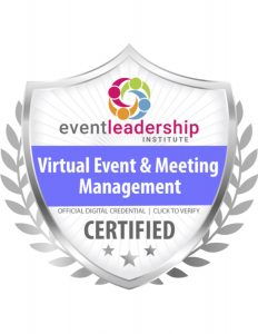Virtual Event & Meeting Management Certification Badge, event planning