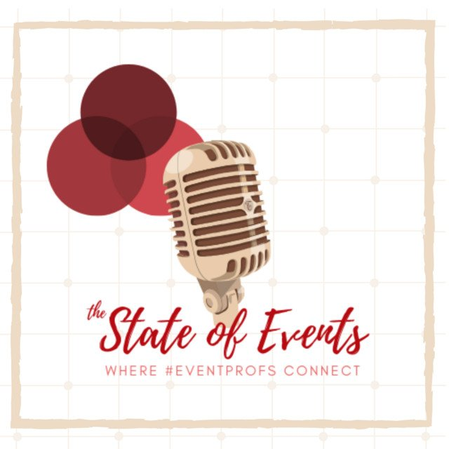 A logo of The State of Events podcast.