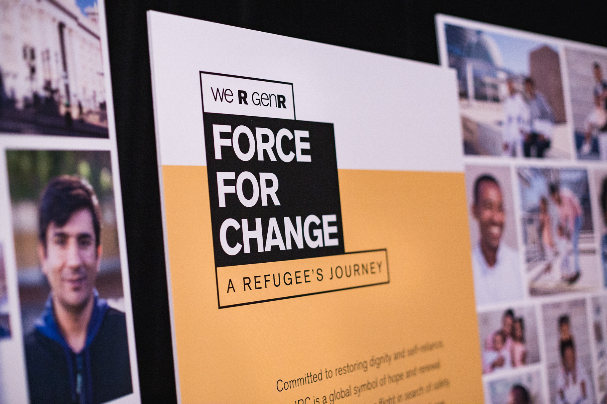 Sign at Force for Change Fundraiser