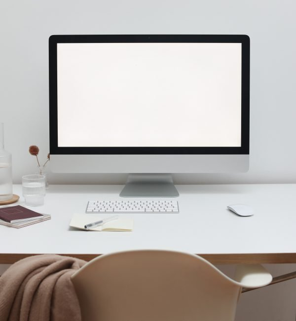 A stock image featuring a computer screen with a warm tone, taken by Cup of Couple from Pexels.