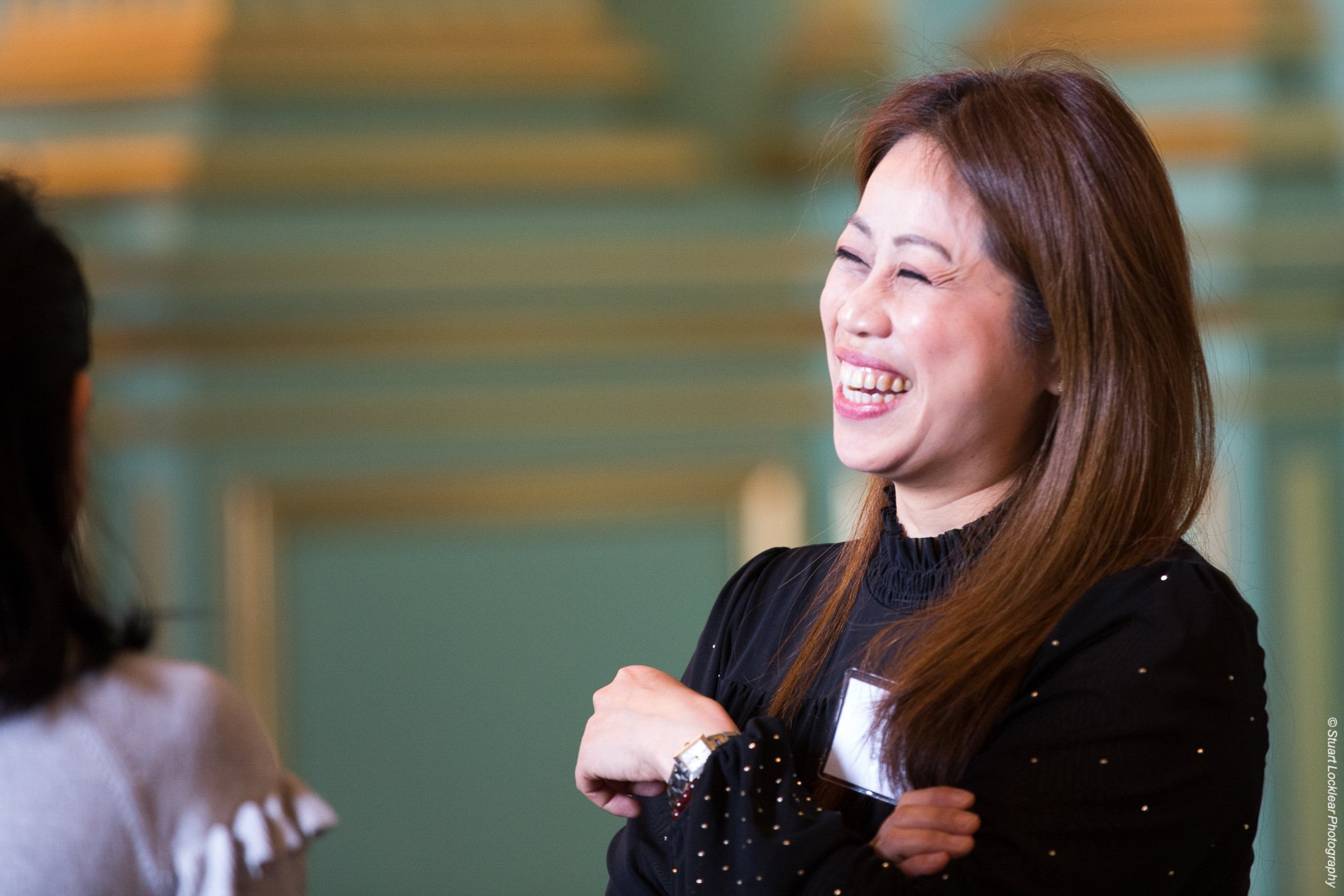 Attendee laughing at San Francisco Small Business Week