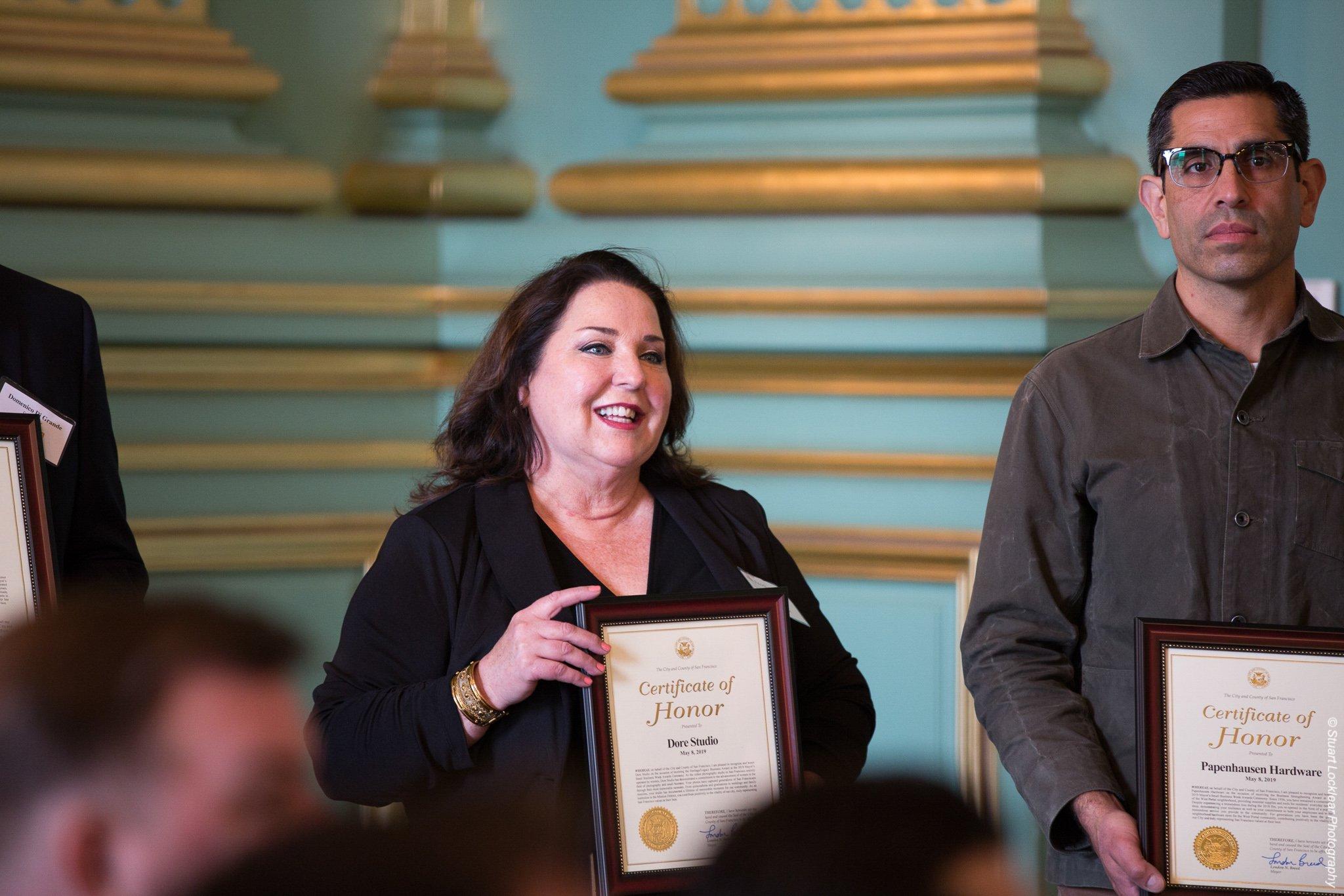 Award winner at San Francisco Small Business Week