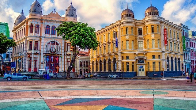 Recife Antigo Colorful Buildings